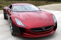 Picture red, color, Machine, machine, on the road, Concept One, Rimac