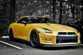 Picture GT-R, on the contrast, Nissan, yellow