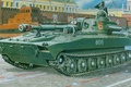 Picture figure, art, parade, Carnation, red square, Soviet 122-mm self-propelled howitzer regiment, 2S1