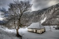 Picture winter, snow, mountains, nature, tree, rocks, frost, abandoned, house, Nature, winter, mountain, snow, tree, frost