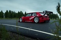 Picture The sky, Forest, Track, Lancia, Delta, 1992, Side, Cloudy, Shrubs, EVO1, Lasupra
