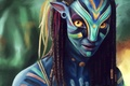 Picture Avatar, Neytiri, art, Zoe Saldana, James Cameron