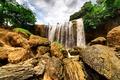 Picture Dalat, Park, waterfall, trees, moss, Vietnam, rock, stones