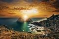 Picture sunset, the ocean, rocks, coast, Brazil, Brazil, The Atlantic ocean, Atlantic Ocean, Pernambuco, Pernambuco, Fernando ...