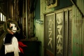 Picture vocaloid, the door, girl, Gumi, Vocaloid
