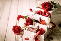 Picture flowers, holidays, box, heart, photo, roses, Valentine's day
