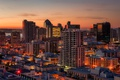 Picture sunset, the city, lights, river, home, the evening, USA, San Diego