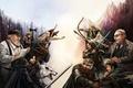 Picture dragon, elf, wolf, MAG, dwarf, art, Daenerys Targaryen, Aragorn, Gandalf, Gimli, Legolas, Jon Snow, Lord ...