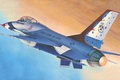Picture the plane, easy, fighter, art, American, F-16, Fighting Falcon, generation, company, multifunction, developed, fourth, General ...