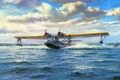 Picture flying boat, Maritime patrol bomber, figure, Consolidated PBY Catalina