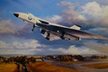 Picture figure, art, the rise, Royal Air Force, Avro, Vulcan, the British strategic bomber