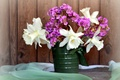 Picture bouquet, spring, daffodils