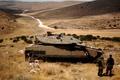 Picture road, hills, soldiers, tank, is, Israel, Merkava Mk.4, Merkava Mk.4