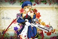 Picture flowers, weapons, art, background, toyboj, blazblue, petals, girl, noel vermillion, pattern