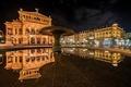 Picture Frankfurt am Main, reflection, Germany, Germany, Frankfurt am main, night city, Old Opera, Alte Oper, ...