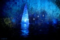 Picture the grotto, toy, rendering, backlight, holiday, magic, magic, reflection, light, tree, water, new year, glare, ...
