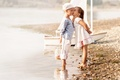 Picture children, sailors, dress, beach, sea, girl, sailor, boy, dress, girl, children, beach, sea, kiss, boy, ...