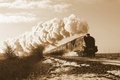 Picture train, steamer, railroad