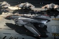 Picture game, fiction, Military, military equipment, Spaceship, Sabre, Star Citizen, Sci-Fi, Aegis, space, space sim, Star ...