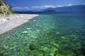 Picture mountains, lake, shore, Baikal
