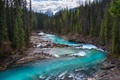 Picture forest, mountains, river, rocks, stream, Canada
