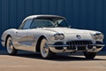 Picture 1958, Chevrolet, Corvette, the front, white, Chevrolet, Corvette