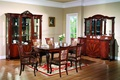 Picture flowers, table, chairs, interior, picture, window, dishes, vase, cabinets