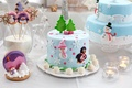 Picture sweets, New Year, table, candles, cakes, holidays, dessert, candy, cookies, cakes, New Year, Christmas, figures, ...