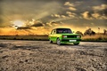 Picture Sunset, The sun, The sky, Auto, Road, Tuning, Clouds, Rays, Lada, Lada