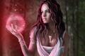 Picture Jenny Laatsch, magic, art, decoration, amulet, sphere, girl, ball, pendant