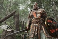 Picture Microsoft, wallpaper, sword, game, forest, Sony, armor, weapon, Ubisoft, power, man, ken, blade, DLC, viking, ...