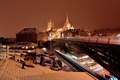 Picture lights, Switzerland, Cathedral, bridge, night, Lausanne, home