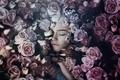 Picture Sleeping beauty, girl, flowers