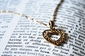 Picture chain, heart, love, pendant, the word, book