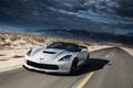 Picture speed, road, car, Chevrolet, supercar, Z06, Corvette, Convertible