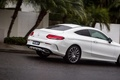 Picture car, auto, Wallpaper, Mercedes-Benz, wallpaper, white, road, Coupe, street, C 300, AMG line