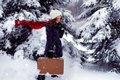 Picture winter, mood, girl, Blizzard