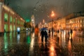 Picture autumn, rain, Saint Petersburg, Nevsky Prospekt, November