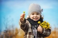 Picture flowers, girl, child, children, bouquet, nature, mother and stepmother, spring