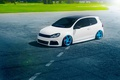 Picture Color, Beam, Volkswagen, Blue, Panchito, Stance, Golf, Sun, White, Wheels, Royal, Grass