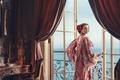 Picture sea, look, style, room, view, interior, door, dress, actress, brunette, hairstyle, photographer, balcony, Natalie Portman, ...