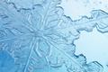 Picture ice, glass, crystal, macro, rendering, snowflake
