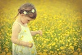 Picture flowers, flowers, child, little girl, girl, child, field, field