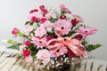 Picture flowers, basket, bouquet, tape, gerbera