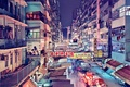 Picture downtown, Hong Kong, stores, apartments, people, neon, restaurants, China, life, food