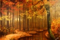 Picture NATURE, AUTUMN FOREST, AUTUMN FOREST, SUNIMO, ART, ART, FIGURE