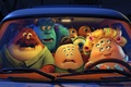 Picture Mike and Sally, monster Sally, pyatiletie, Monster Sally, Monsters, Monsters University, green, one-eyed, mike wazowski, ...