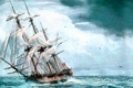 Picture sea, picture, ship, painting, painting, sailboat