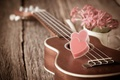 Picture flowers, heart, guitar, love, vintage, heart, romantic