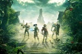 Picture magic, team, roof, chicken, sword, heroes, shield, Fable Legends, clouds, plants, home, Lionhead, crossbow, armor, ...